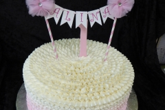3272, first birthday, 1st birthday, ombre, pink, white, topper