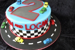 3274, 2nd birthday, second birthday, car, cars, race, racetrack, road, street, yellow, blue, green, red