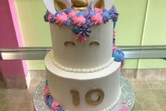 3051, 10th birthday, tenth birthday, unicorn, white, blue, pink, purple, gold, tiered