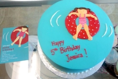 2054, 5th birthday, fifth birthday, pool party, bathing suit, red, blue, pool, water