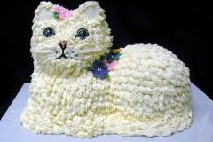 2068, birthday, cat, kitten, kitty, flower, flowers, white, carved