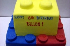 2082, 6th birthday, sixth birthday, lego, legos, red, yellow, blue, brick, tiered