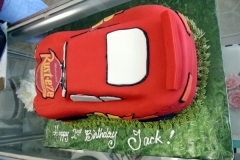 2095, 2nd birthday, second birthday,  lightning mcqueen, cars, car, red, race, racecar, carved, edible image