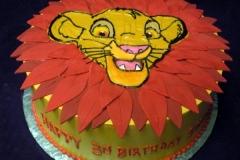 2109, 3rd birthday, third birthday, simba, the lion king, cub, leaf, leaves, red, yellow, orange