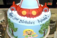 2114, 3rd birthday, third birthday, little einsteins, ship,tree, trees, blue, red, white