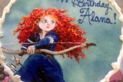 2136, birthday, brave, disney, princess, merida, blue, sky, bow, orange
