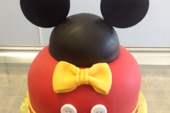 2142, first birthday, 1st birthday, mickey mouse, ears, buttons, button, bow, bows, black, yellow, red