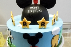 2144, first birthday, 1st birthday, mickey mouse, disney, ears, star, stars, mickey's playhouse, sky, clouds, blue, black