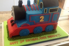 2419, 2nd birthday, second birthday, thomas the tank engine, thomas, train, trains, blue, red, carved