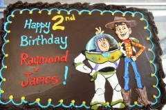 2438, second birthday, 2nd birthday, toy story, woody, buzz, brown, pixar