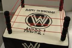 2483, seventh birthday, 7th birthday, wwe, wrestling, ring, black, white