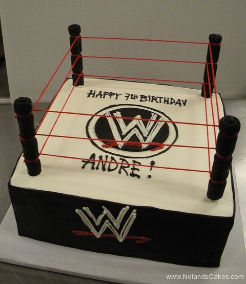 2483, seventh birthday, 7th birthday, wwe, wrestling, ring, black, white