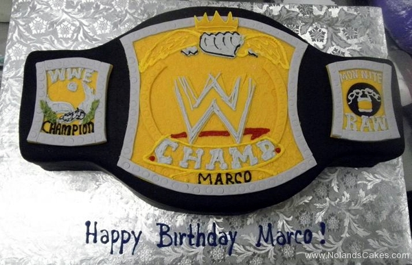 2489, birthday, wwe, wrestling, belt, championship belt, black, white, yellow, carved