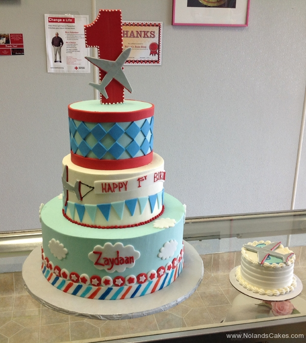 114, airplane, blue, red, 1st birthday, first birthday, tiered, birthday