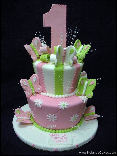 120, 1st birthday, first birthday, pastel, butterfly, pink, green, tiered, birthday