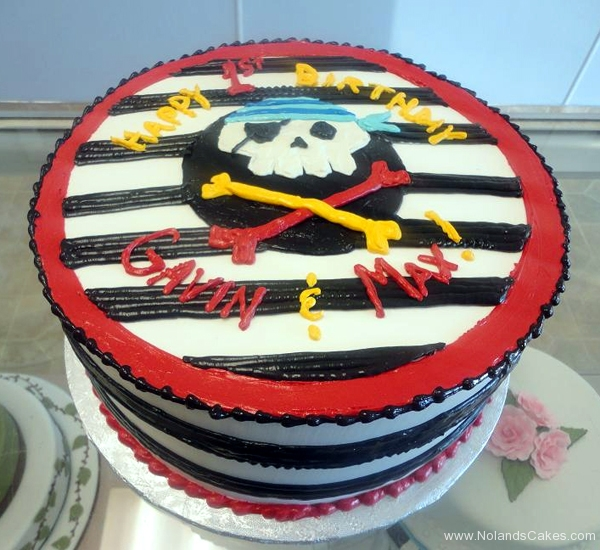 134, 1st birthday, first birthday, birthday, pirate, stripe, red, black, white, skull