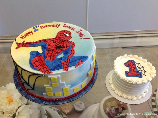 147, 1st birthday, first birthday, birthday, spiderman, spider man, smash cake, red, blue