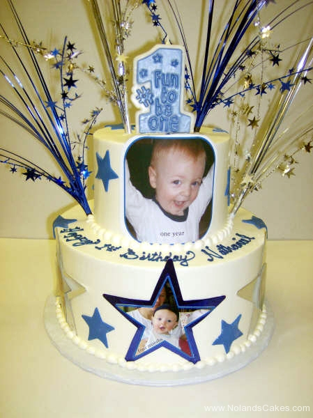 151, 1st birthday, first birthday, birthday, blue, gold, edible image, stars, star, tiered