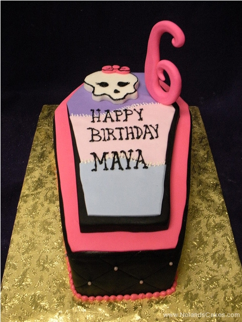 157, sixth birthday, 6th birthday, birthday, skull, cute, coffin, pink, black, purple, bow
