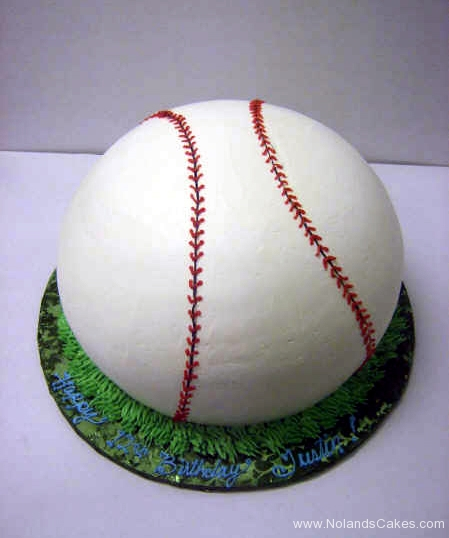 201, baseball, green, white, 12th birthday, carved
