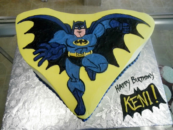 204, batman, birthday, carved, blue, yellow, superhero, superheroes