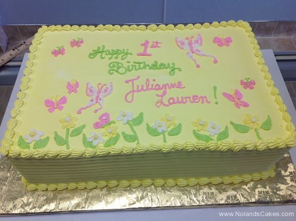 225, 1st birthday, first birthday, yellow, butterfly, butterflies, flower, flowers, pastel, pink, green,