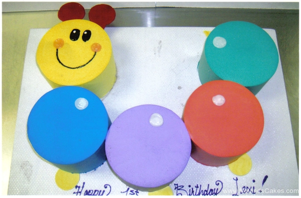 257, caterpiller, 1st birthday, first birthday, yellow, blue, purple, red