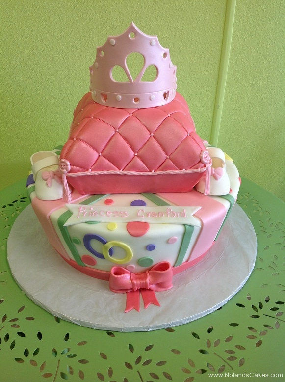 337, irthday, pillow, pink, green, yellow, blue, bow, bows, crown, tiara, shoes, white, tiered