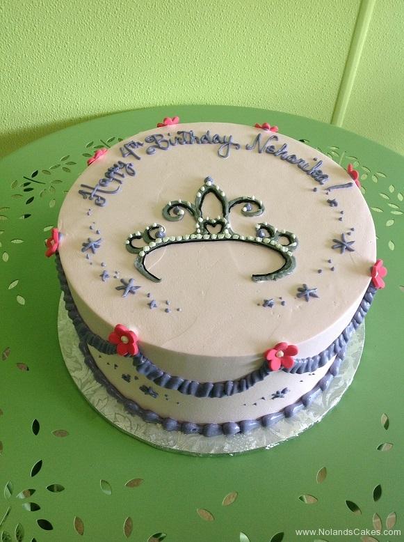346, 4th birthday, fourth birthday, birthday, princess, crown, tiara, purple, pink, flower, flowers