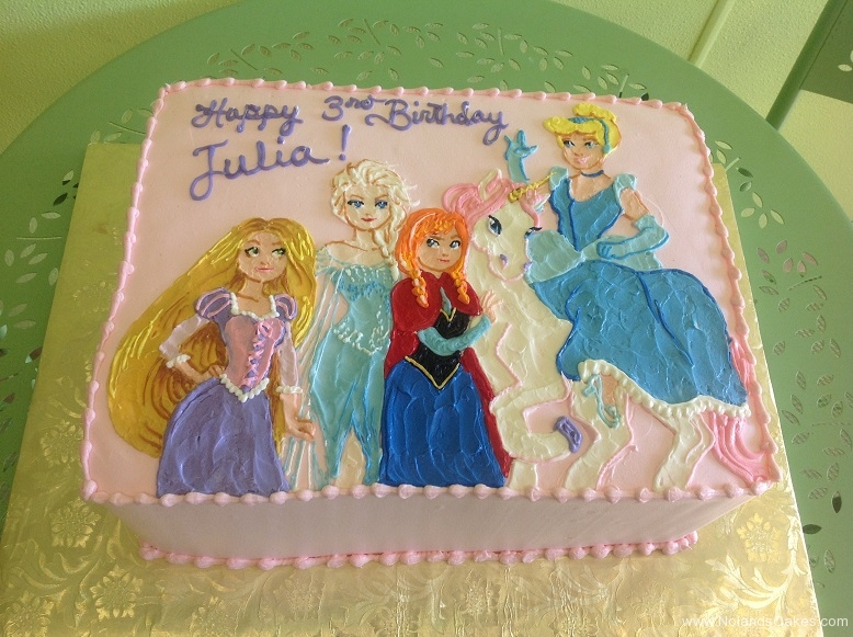 404, third birthday, 3rd birthday, disney, princess, disney princess, cinderella, elsa, anna, rapunzel, pink, horse, unicorn