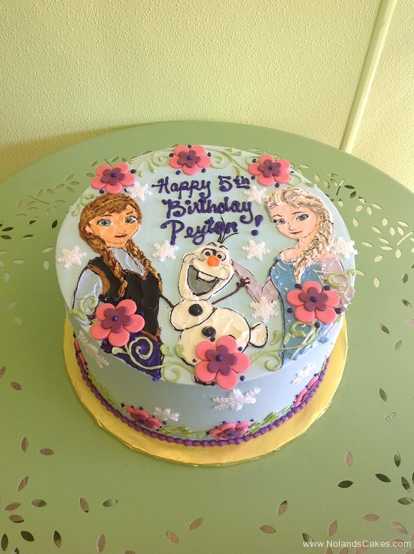 282, 5th birthday, fifth birthday, flowers, flower, snowflake, snowflakes, frozen, elsa, anna, olaf, blue, pink, purple