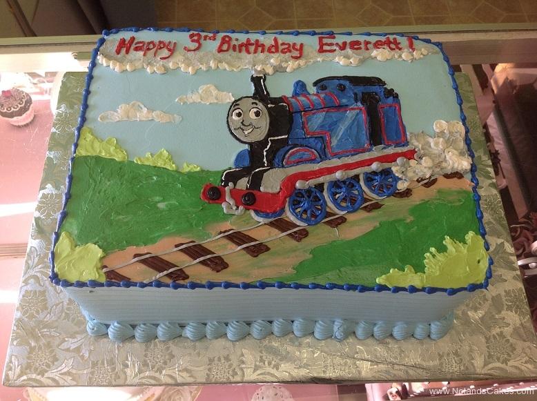 626, third birthday, 3rd birthday, thomas the tank engine, thomas, train, blue, green, grass