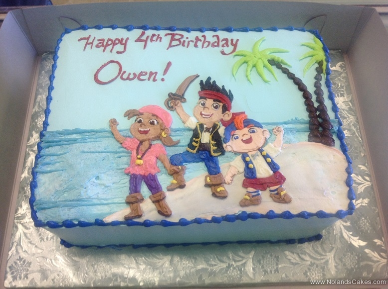648, pirates, disney, jake and the neverland pirates, beach, birthday, fourth birthday, 4th birthday, blue, sand, ocean, palm trees, square