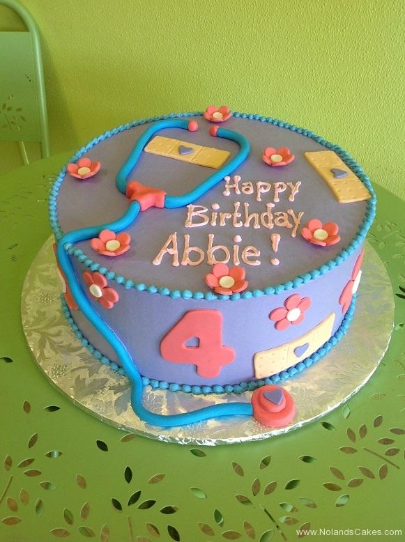 660, fourth birthday, 4th birthday, girl, flowers, doctor, purple, stethoscope,  band aids