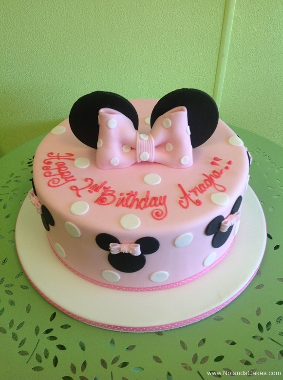 676, minnie mouse, mouse, minnie, ears, bow, pink, polka dots, 2nd birthday, second birthday, girl, disney