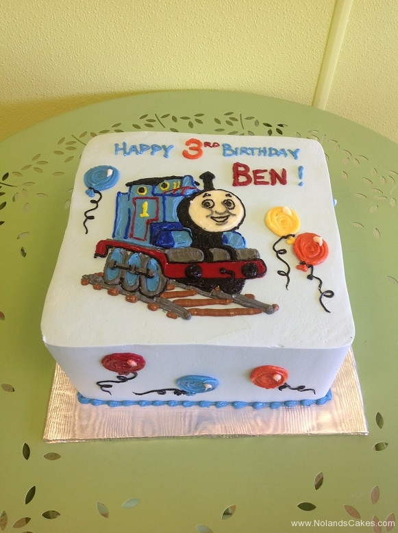 688, balloons, thomas the train, train, thomas, tank engine, 3rd birthday, third birthday, blue,  boy