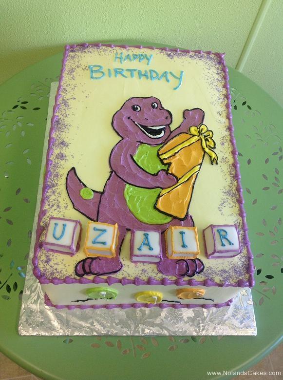 716, first birthday, 1st birthday, barney, dinosaur, purple, white, blocks