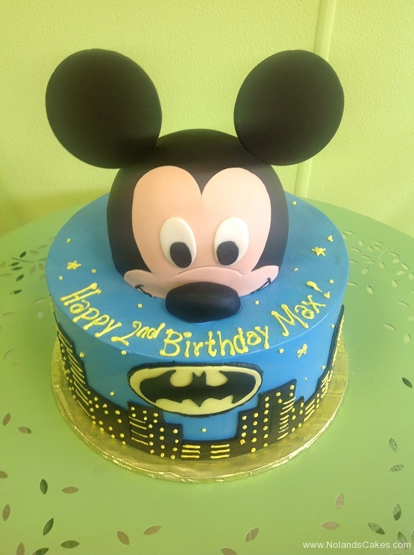 728, 2nd birthday, second birthday, mickey mouse, mickey, disney, batman, dc, superhero, superheroes, blue, black, yellow, ears