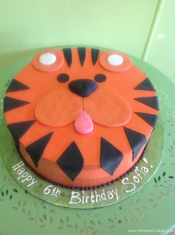 785, sixth birthday, 6th birthday, tiger, orange, black, face