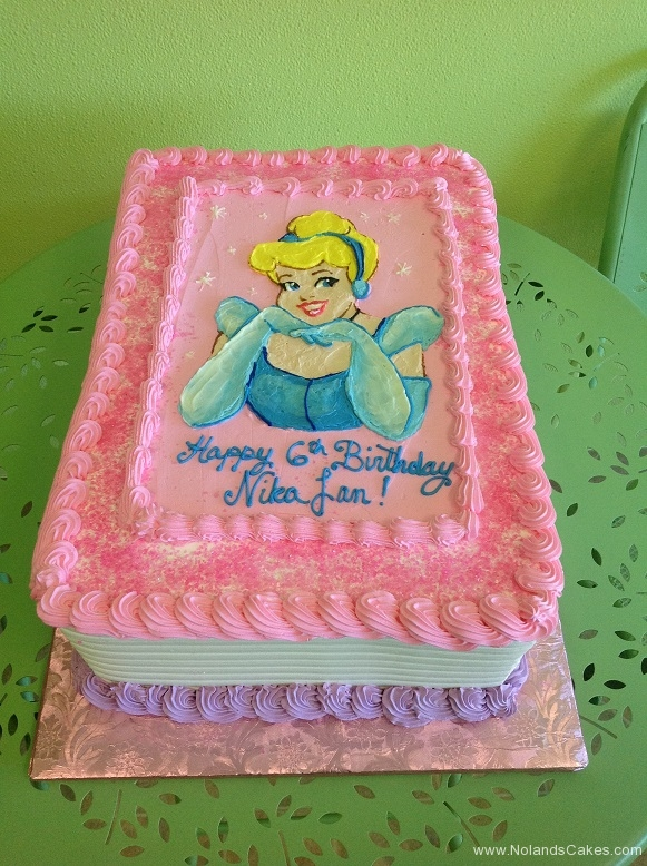 463, 6th birthday, sixth birthday, princess, disney princess, disney, cinderella, blue, pink