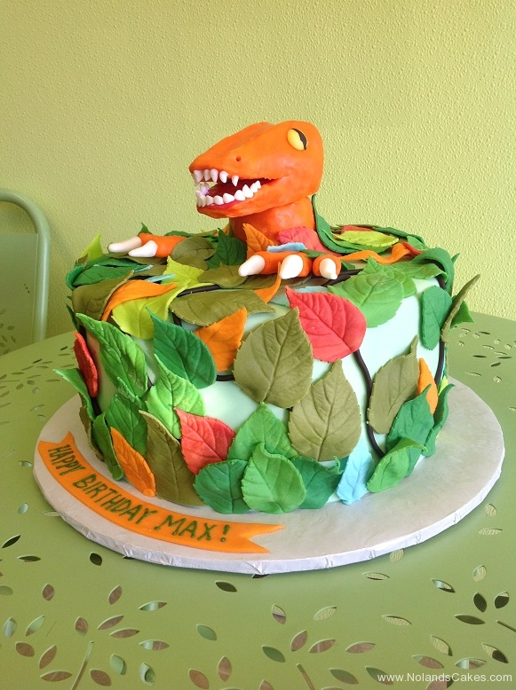 478, birthday, dino, dinosaur, leaf, leaves, green, orange, blue