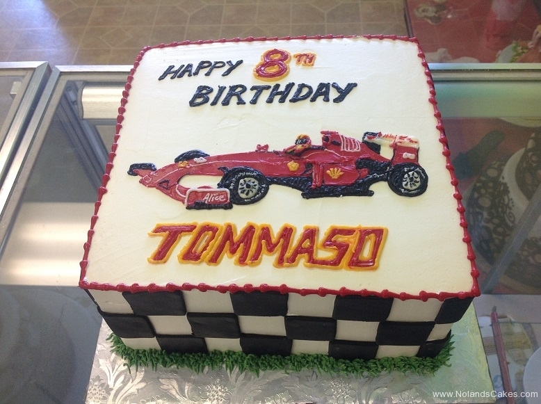 514, 8th birthday, eighth birthday, race car, race, car, F1 racing, F1, track, red, white