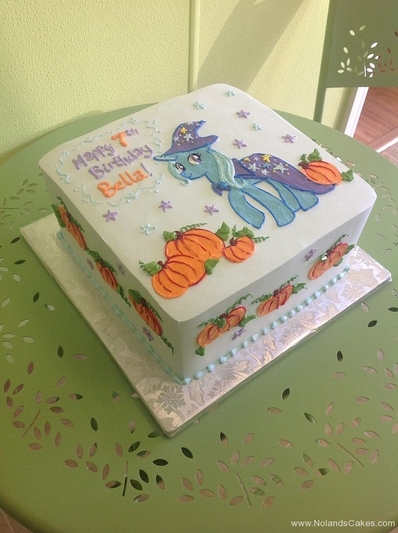 563, 7th birthday, seventh birthday, my little pony, pony, horse, wizard, pumpkin, white, blue, purple, star, stars