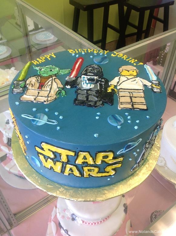 906, birthday, star wars, lego, luke, darth vader, yoda, blue, yellow