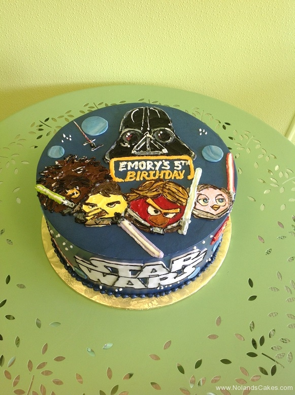 947, 5th birthday, fifth birthday, star wars, angry birds, bird, piggy, piggies, blue, yellow, red