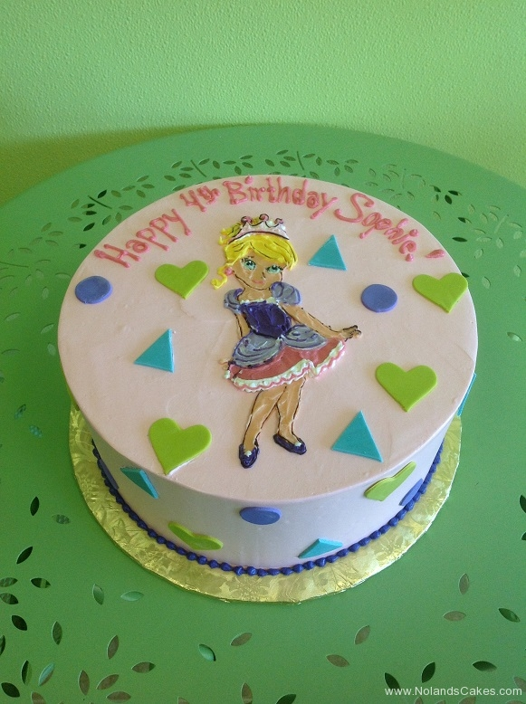 958, 4th birthday, fourth birthday, princess, disney, pink, purple, heart, hearts, dots, green, blue