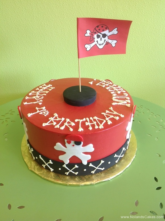 968, fourth birthday, 4th birthday, red, black, white, skull, crossbones, glad, pirate