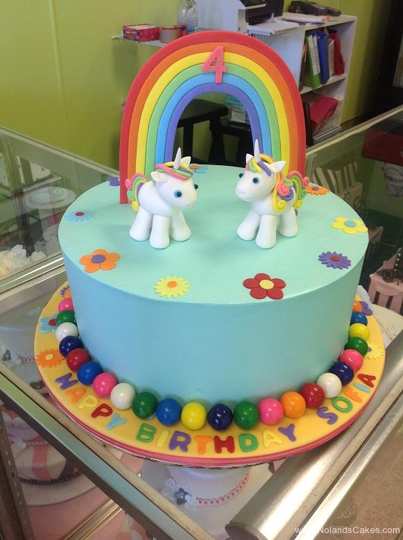 833, fourth birthday, 4th birthday, unicorn, unicorns, rainbow, flower, flowers, gumballs, blue