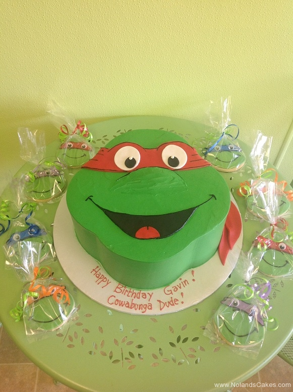 880, birthday, carved, tmnt, teenage mutant ninja turtles, raphael, cookies, cookie, turtle, red, green,