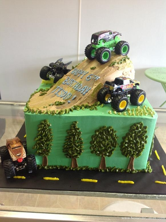 1066, 6th birthday, sixth birthday, truck, monster trucks, trees, tree, dirt, green, car, cars